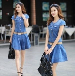 Đầm Jean đẹp phong cách