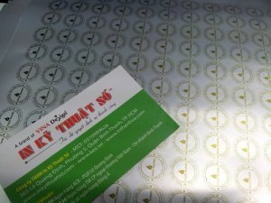 In tem decal bạc làm tem nhãn sản phẩm tại In Kỹ Thuật Số