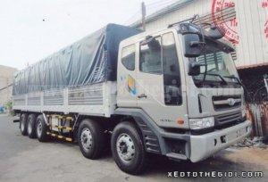Xe tải Daewoo P9CVF 5 chân - Đóng thùng mui bạt - Tổng tải 34 tấn