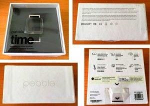 Đồng hồ Smart Watch Pebble Time, màu xám, nguyên hộp