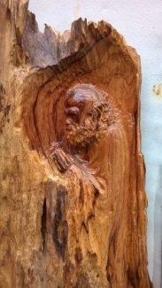 Tượng gỗ đạt ma gỗ hương siêu vân