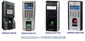 Máy chấm công kết hợp kiểm soát cửa vân tay và thẻ ronald jack F18, F8 ...