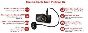 Camera hành trình Vietmap K12 ( 2 cam - GPS)
