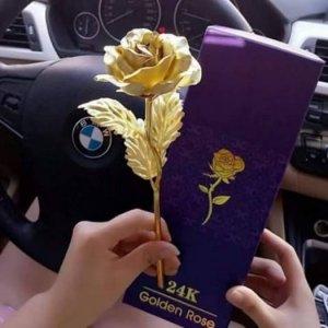 Hoa hồng mạ vàng.Qùa tặng đẳng cấp, sang trọng, lịch thiệp. Giá 400k.
