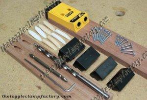 dụng cụ làm mộc, dụng cụ làm gỗ, tool làm mộc, bộ gá khoan xiên, kẹp dưỡng khoan xiên, kẹp dưỡng khoan mộng, Hình ảnh trọn bộ