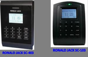 Máy chấm công kết hợp kiểm soát cửa bằng thẻ cảm ứng Ronald Jack Sc403, Ronald Jack Sc103