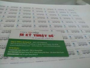 In tem decal bảo hành chất liệu decal vỡ - thực hiện tại In Kỹ Thuật Số