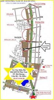 Bán nhanh ô đất hướng đông chợ liên hồng Gia lộc thuộc KĐTM phía Nam TP.Hải Dương :