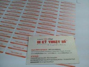 In tem decal chống giả trên chất liệu decal giấy cho khách hàng tại In Kỹ Thuật Số