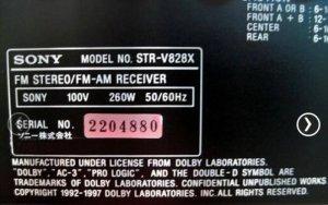 Amply Sony STR V828X màu vàng chanh 260W