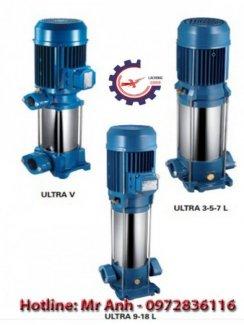 Giá máy bơm bù áp trục đứng đa tầng cánh U7V-350/10T 3.5hp chính hãng Italy