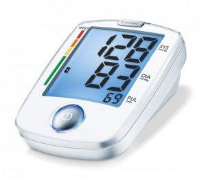 Máy đo huyết áp điện tử bắp tay Beurer BM44 màn hình chiếu sáng nền màu xanh