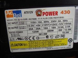Bộ Nguồn máy tính acbel 430w