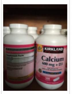 Calcium 600mg +D3 Hàng nhập từ Mỹ