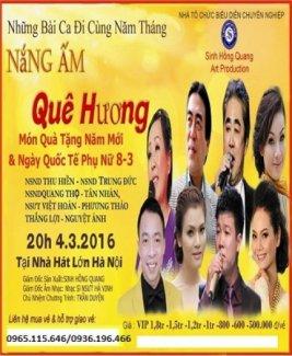 Bán vé chương trình Nắng ấm quê hương tại Hà Nội