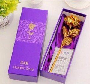 Hoa Hồng Mạ Vàng 24k Quà Tặng Ý Nghĩa Cho Phái Nữ