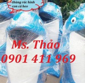 Thùng rác công cộng, thùng rác con thú, thùng rác con cá heo, giá rẻ