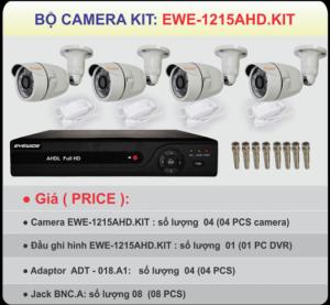 Trọn Bộ 4 Camera Ewe-1215 Kit