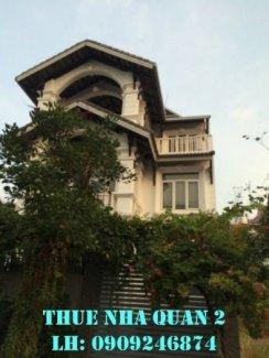 Cho thuê gấp villa Quận 2 phường An phú, 45 triệu/tháng hướng Tây Nam