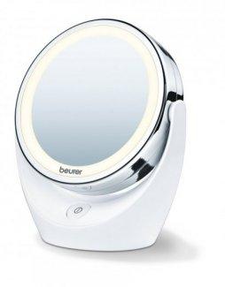 Gương trang điểm để bàn 2 mặt, phóng to 5 lần Beurer BS49 tích hợp đèn LED của CHLB Đức hàng nhập khẩu chính hãng