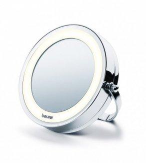 Gương trang điểm treo gắn tường 2 mặt, phóng to 5 lần Beurer BS59 tích hợp đèn LED