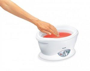 Bồn ngâm Paraffin hương cam chăm sóc da bàn tay, bàn chân và khuỷu tay Beurer MP70