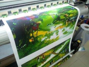 Tranh in canvas khổ lớn, in tranh treo tường phòng khách chủ đề phong cảnh quê hương tại In Kỹ Thuật Số   In canvas mực nước