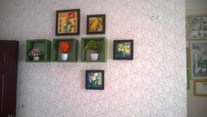 Sơn hoa văn trang trí nội thất.