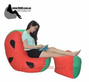 Ghế lười hình dưa hấu mang lại cho bạn một cảm giác cực kì êm ái và sảng khoái