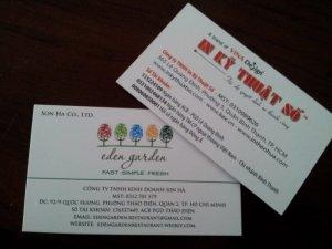 In name card cho nhà hàng tại TPHCM - thực hiện in ấn bởi In Kỹ Thuật Số
