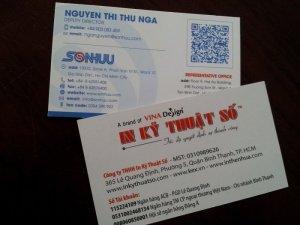 In name card tích hợp mã Qrcode - in offset - đặt in ngay cùng In Kỹ Thuật Số bên cạnh dịch vụ in nhanh name card