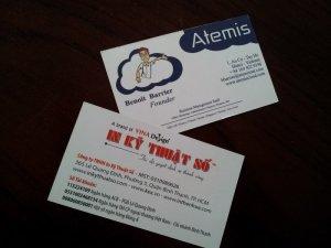 In name card sắc nét cho khách hàng thuộc công ty nước ngoài - thực hiện in bởi In Kỹ Thuật Số