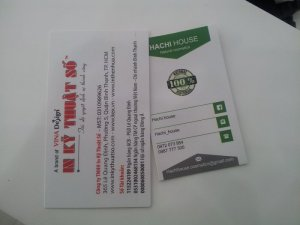 In card visit đẹp, độc cho Hachi House - shop mỹ phẩm online tại TPHCM