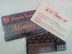 In thẻ nhựa khách hàng VIP cho nhà hàng tại In Kỹ Thuật Số