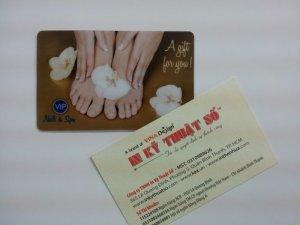 In thẻ nhựa khách hàng VIP cho spa làm đẹp