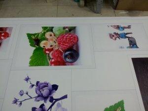 In trang trí hình trái cây, hoa quả cho quán | In PP cán format từ In Kỹ Thuật Số