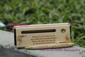 Bút gỗ khắc tên rẻ đẹp tại tp hcm - Happygift360