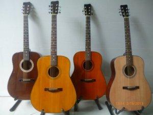 Đàn guitar acoustic DD100 mới 100%, gỗ Thông nguyên tấm