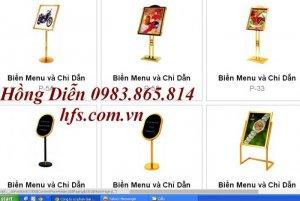 Biển menu, biển thực đơn, biển chào mừng, biển đón khách, đồ dùng đại sảnh , bảng chỉ dẫn,
