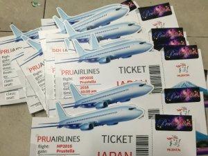 In và cắt bế quảng cáo vé máy bay sự kiện hàng không