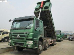 Xe ben Howo 4 chân 15 khối nhập khẩu/ xe ben Howo 4 chân 3 chân nhập khẩu 2017.
