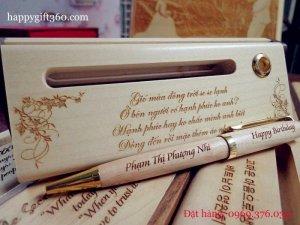 Bút gỗ may mắn - Bút gỗ khắc tên