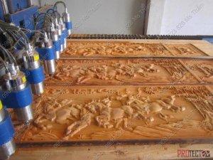 Máy cnc đục gỗ tự động