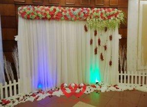 Backdrop hoa giấy, cho thuê phông cưới hoa giá rẻ