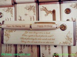 Bút gỗ khắc tên - Bút gỗ may mắn