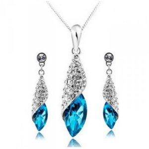 Bán buôn trang sức - Bộ nữ trang thạch anh Crystal