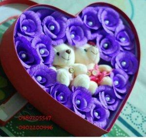 hoa gấu bông handmade chất lượng cao, đẹp mắt sẽ là món quà cực kì hấp dẫn dành tặng cho người thân yêu