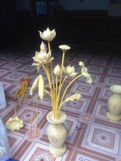 Hoa sen gỗ mít để bàn thờ loại đẹp