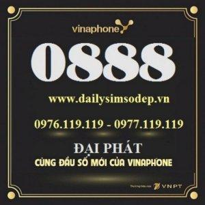 Danh sách sim số đẹp vinaphone 0888 giá rẻ trả trước