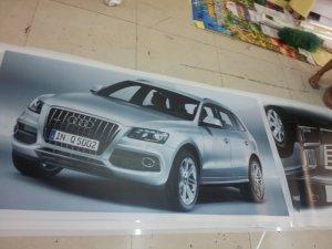 In backlit film hình xe hơi ôtô cho trang trí showroom ôtô tại TPHCM - đặt in ấn và gia công tại In Kỹ Thuật Số | Chất liệu backlit film càng làm nổi bật thêm hình ảnh sản phẩm của  showroom